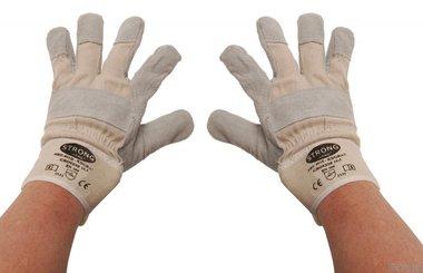 Bgs Technic Werkhandschoenen leder, gevoerd maat 10,5