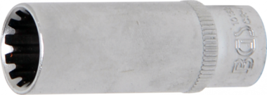 Dopsleutel Gear Lock, diep 6,3 mm (1/4) 12 mm