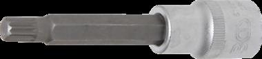 Bgs Technic Dopsleutelbit lengte 100 mm 12,5 mm (1/2) veeltand (voor XZN) M9
