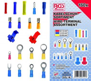 Bgs Technic Kabelschoen assortiment , 160 stuks
