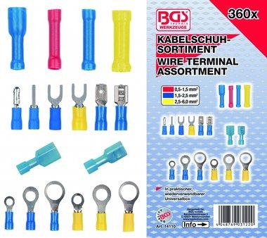 Bgs Technic Kabelschoen assortiment , 360 stuks
