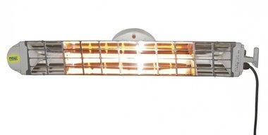 Dubbele infraroodstraler met 2 lampen