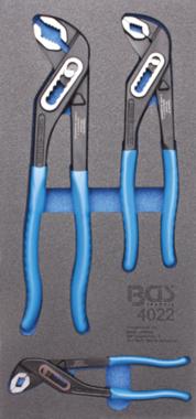 Bgs Technic Gereedschapsbakje 1/3: waterpomptang 3 delig