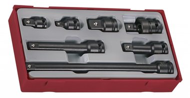 Set accessoires slagdoppen 1/2 tc-tray 7dlg