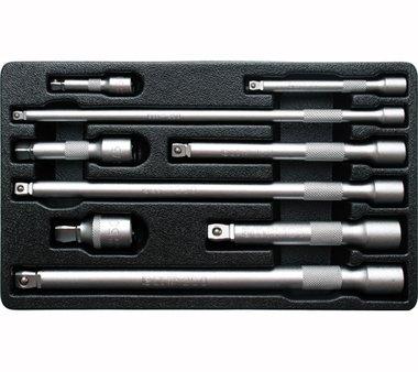 Bgs Technic Kantelverlengstukset 6,3 mm (1/4), 10 mm (3/8), 12,5 mm (1/2) 9-dlg