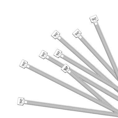 Kabelbinders 200x2,5mm 1000 stuks wit