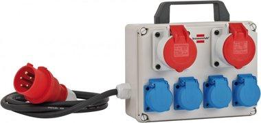 Mini stroomverdeler BKV 2/4 T IP44