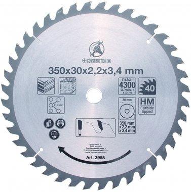 Bgs Technic Hardmetalen cirkelzaag Blade, diameter 350 mm