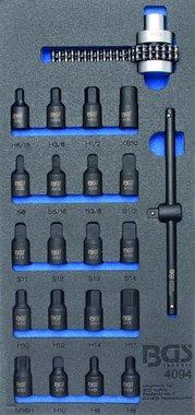Bgs Technic 1/3 Gereedschap module 22-delig carterplug dopsleutels en olie filter