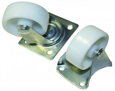 Bgs Technic 4-delige zwenk- en bokwielen Set, 38 mm