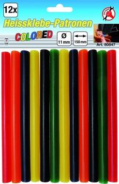 12-delige gekleurde lijmstiften 11 mm