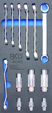 Bgs Technic Gereedschapsbakje 1/3: Flare-moersleutel en speciale dop 13-delig