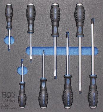 Bgs Technic Gereedschapsbak 2/3: Kruis- en sleufschroevendraaiers 8 delig