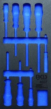 Bgs Technic 1/3 Tool Tray (408x189x32 mm), leeg, voor 8-delige VDE schroevendraaier set