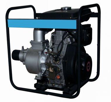Pomp met diesel motor voor vuilwater