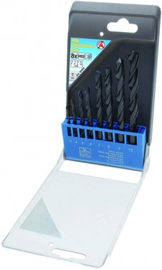 8-delige HSS Drill Set, 3-10 mm