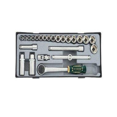 24pc 3/8 Surface drive socket set groen