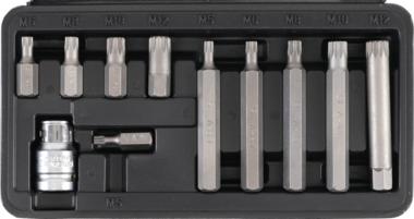 Bgs Technic Dopsleutel -veeltand bit, 11 delig set