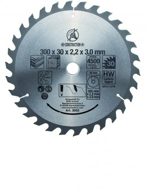 Bgs Technic Hardmetaal Cirkelzaagblad diameter 300 mm 30 tand