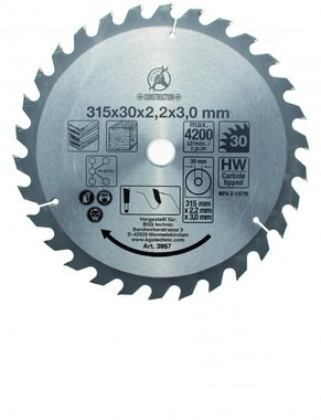 Bgs Technic Hardmetaal Cirkelzaagblad diameter 315 mm 30 tand