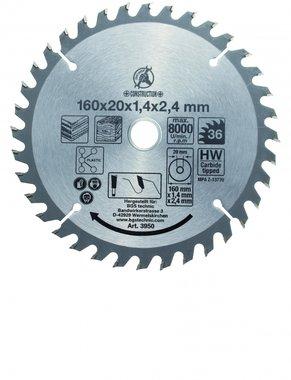 Bgs Technic Hardmetaal Cirkelzaagblad diameter 160 mm 36 tand