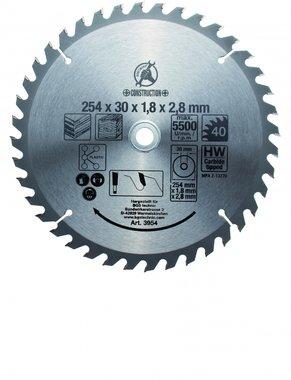 Bgs Technic Hardmetaal Cirkelzaagblad diameter 254 mm 40 tanden