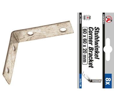 8-delige Stalen Beugel Set 60 x 60 x 20 mm