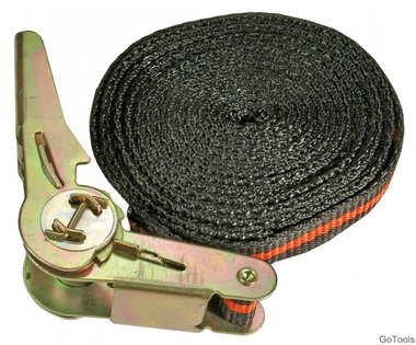 Ratel vastsjorren strap, 5 m lang, 24 mm breed