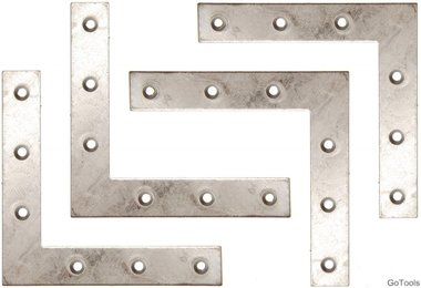 4-delige bracket steel kit, 100x100x15 mm