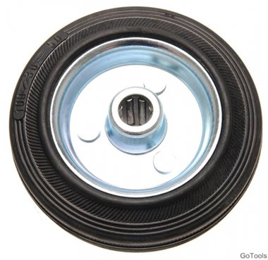Bgs Technic 100 mm stevige rubber wiel, stalen velg