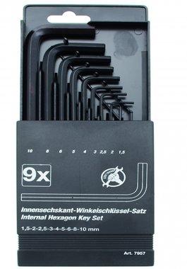 9-delige inbus sleutel Set, 1,5-10 mm