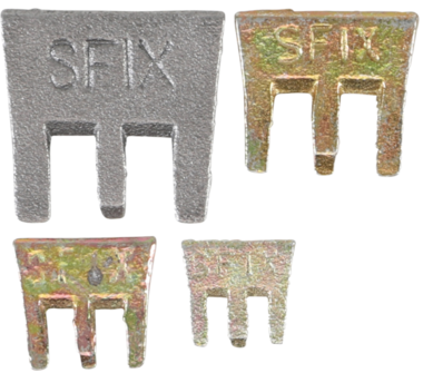 S-Fix Claws Wedges Set, 4 stuks