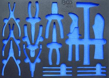 Bgs Technic 3/3 Gereedschap module, leeg: voor 17-delig tangen assortiment