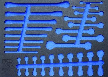 Bgs Technic 3/3 Gereedschap module, leeg: voor open / ring / ratel sleutel, leeg