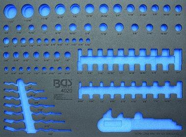 Bgs Technic 3/3 Gereedschap module, leeg: voor dopsleutels en combinatie sleutel
