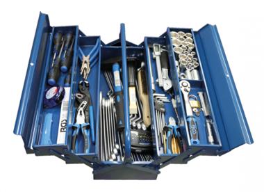 Bgs Technic Metalen gereedschapskoffer inclusief gereedschap 137-delig