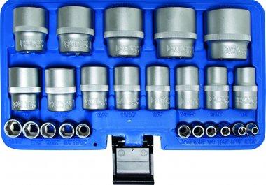Bgs Technic 24-delige dop Set, Inch Maten