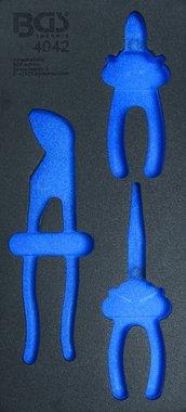 Bgs Technic 1/3 Tool Tray (408x189x32 mm), leeg, voor 3-delige Pliers Set