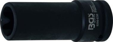 3/4 Krachtdop, inwendig torx, E32 x 110 mm