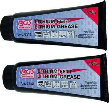 Bgs Technic Lithium Vet voor Grease Gun BGS 9311, 2 Tubes