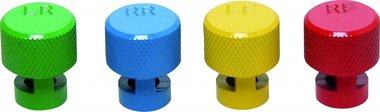 Bgs Technic Kleurgecodeerde ventieldopset voor RDKS -ventielen 4-delig