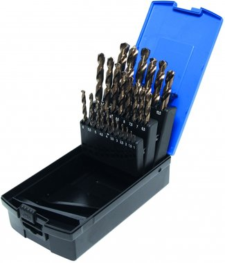 Bgs Technic 26-delige Twist Drill Set, HSS-G M35 Kobalt Staal, 1-13 mm