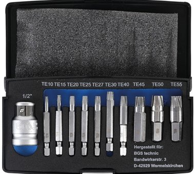 Bgs Technic 11-delige Screw Extractor Set voor beschadigde Torx T10-T55