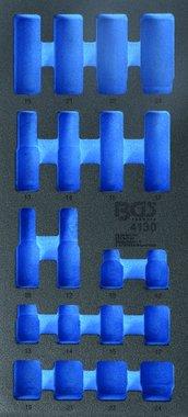 Bgs Technic 1/3 gereedschapskistje (408x189x32 mm), leeg, voor 20-delige slagcontactdoos 10-24 mm