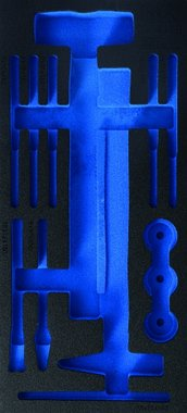 Bgs Technic 1/3 gereedschapskistje (408x189x32 mm), leeg, voor 14-delige hamer met verwisselbare hoofden en pinpunch en beitel set