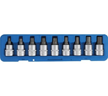 Bgs Technic Bit Dop Set 20 mm (3/4) drive internal Hexagon T-star (for Torx) 9 delig