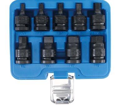 krachtbit dop set1/2 Inbus 5 - 19 mm, 9-delig