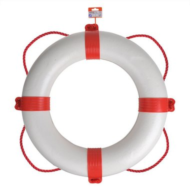 Reddingsboei diameter 600mm, wit - rood