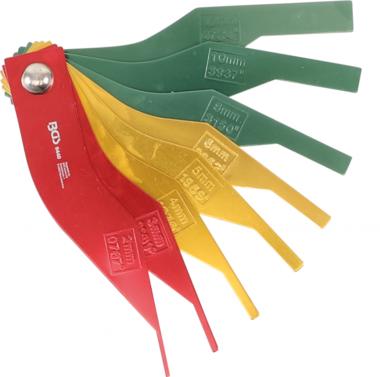 Remvoeringslijtage-indicator Set metaal 8 st.