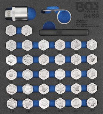 Bgs Technic Rim Lock dop Set voor Mercedes 35 delig